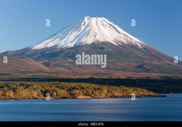 Japan, Central Honshu, Chubu, Fuji-Hakone-Izu National Park, Mount Fuji - Stock Image