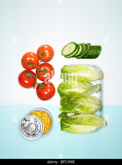 Sandwich fillings, salad ingredients - Stock Image