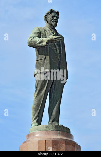 Monument to revolutionary leader Mikhail Ivanovich Kalinin. Kaliningrad, Russia - Stock Image
