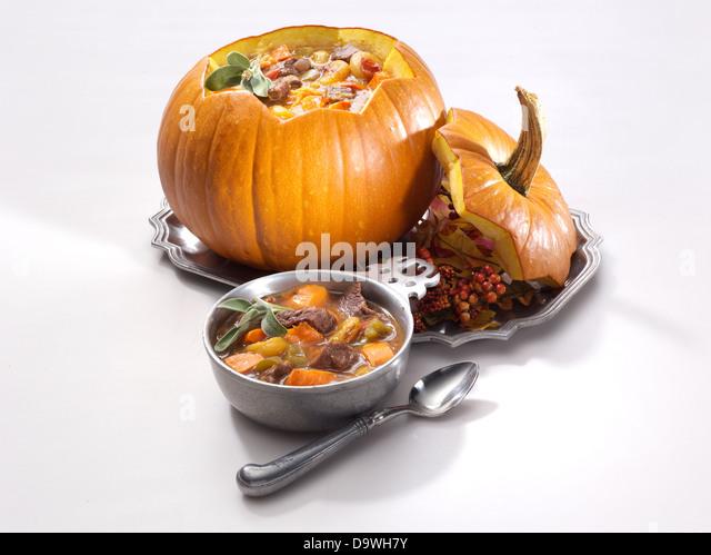 pumpkin stew soup - Stock Image
