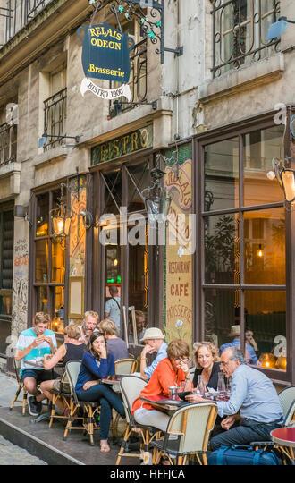 historic cafe, brasserie, restaurant relais odeon - Stock Image