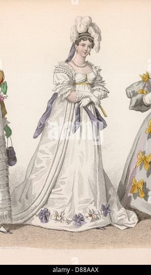 History Of Fashion 1815 - Stock Image
