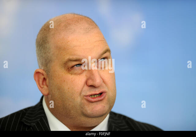 Carl Sargeant AM for Alyn and Deeside in North Wales and minister for Natural Resources. - Stock Image