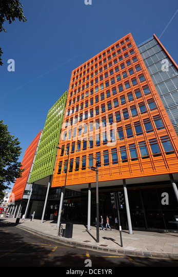 google office in london. central saint giles office building home to google uk london england uk - stock image in