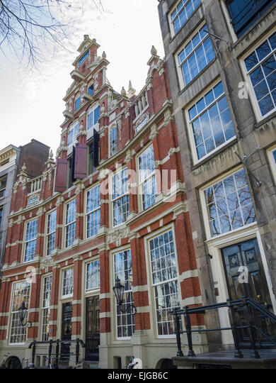House Bartolotti, 'The Spotted House' (c. 1617), on Herengracht Canal, Amsterdam, Netherlands. - Stock Image