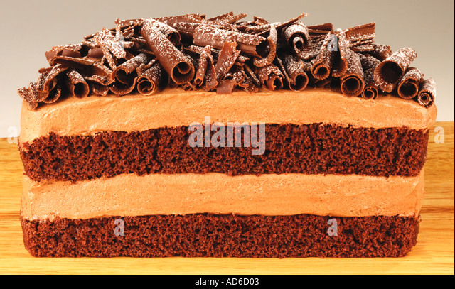 CHOCOLATE LAYER CAKE - Stock Image