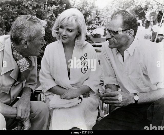 John Huston, Marilyn Monroe, Henry Miller - Stock Image