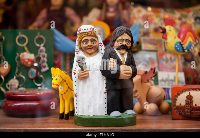 Wedding old newlyweds souvenir - Stock Image