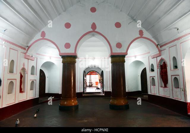 Interior hall near the sanctum of the Kamakhya temple in Guwahati, Assam. - Stock Image