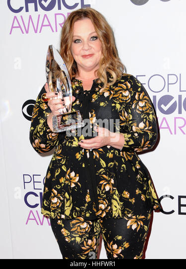 Los Angeles, CA, USA. 18th Jan, 2017. 18 January 2017 - Los Angeles, California - Melissa McCarthy. 2017 People's - Stock Image