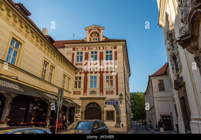 Prague Old Town's streets in the summer - Stock Image