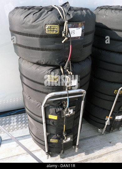 Formula One tyre warmers 2013 - Stock Image