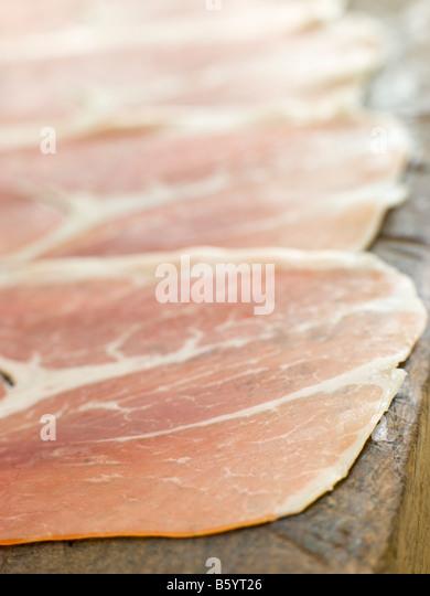 Slices of Serano Ham - Stock Image