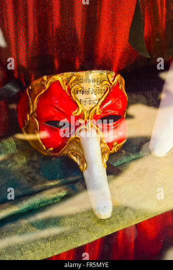 Red mask - Stock Image