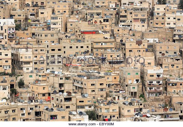 view on Amman, Jordan, Amman - Stock Image