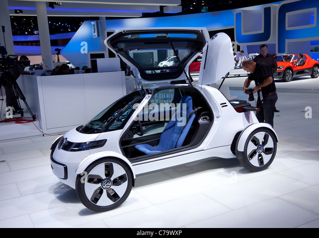 New VW Volkswagen e-car Nils on the IAA 2011 International Motor Show in Frankfurt am Main, Germany - Stock Image