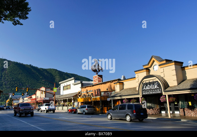 Historic cowboy bar stock photos historic cowboy bar for Towns near jackson hole wyoming