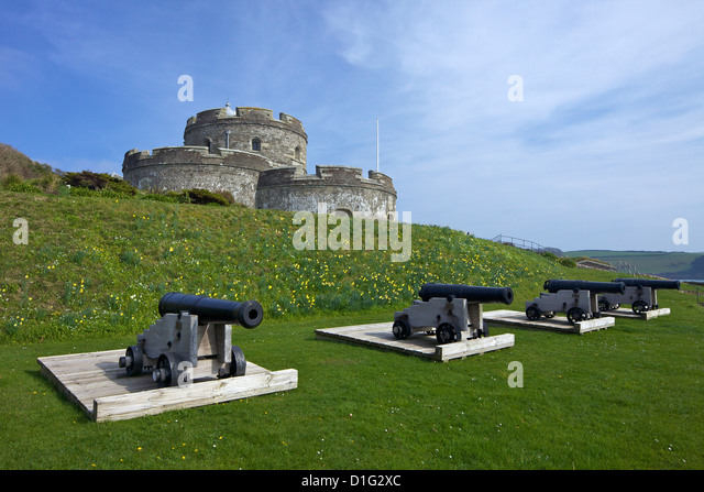 St. Mawes Castle, an artillery fortress built by Henry VIII, Cornwall, England, United Kingdom, Europe - Stock-Bilder