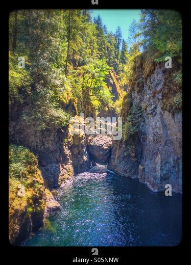 Englishman River Falls - Stock Image