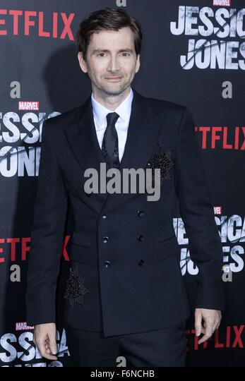 New York, NY, USA. 17th Nov, 2015. David Tennant at arrivals for MARVEL's JESSICA JONES Netflix Original Series - Stock Image