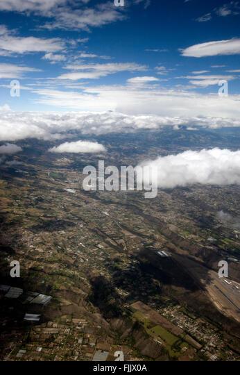 Aerial view of Quito, Ecuador - Stock Image