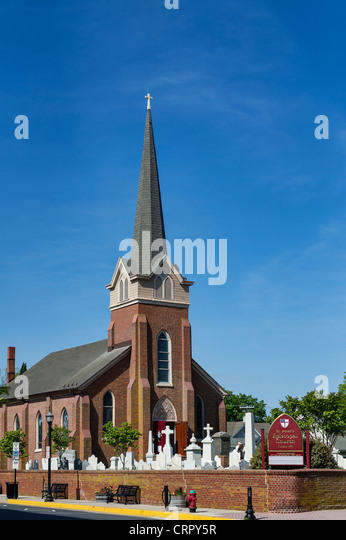 St. Peter's Episcopal Church, Lewes, Delaware, USA - Stock Image