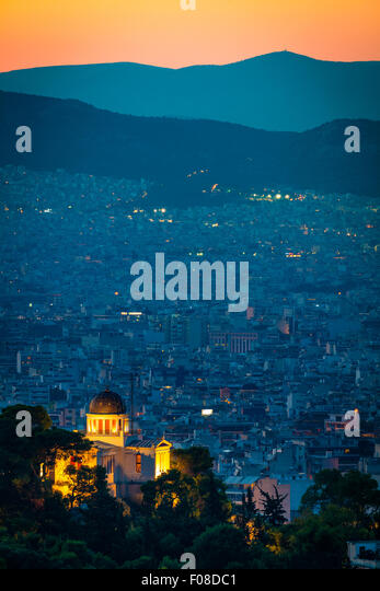 The National Observatory of Athens is the oldest Research Center in Greece. - Stock Image