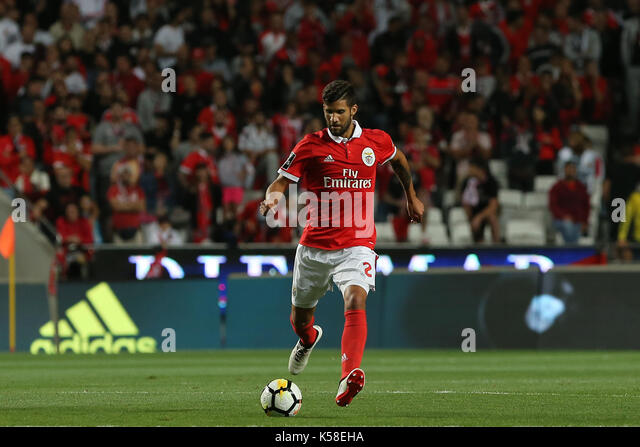 Benfica«s defender Lisandro Lopez from Argentina  during the Premier League 2017/18 match between SL Benfica - Stock Image