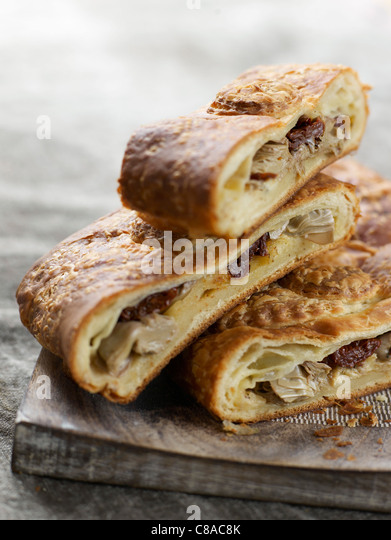 puff pastry with filling - Stock Image