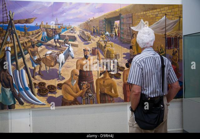 Display at the Bahrain National Museum, Manama, Bahrain - Stock Image
