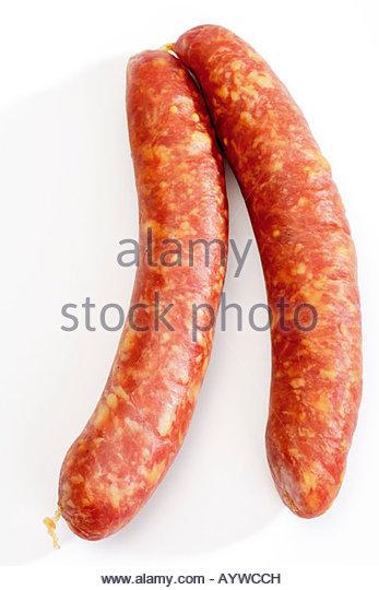 Sausage, Mettwurst sausage - Stock Image