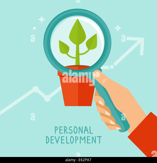 Personal development concept in flat style - infographic design elements and icons - Stock-Bilder