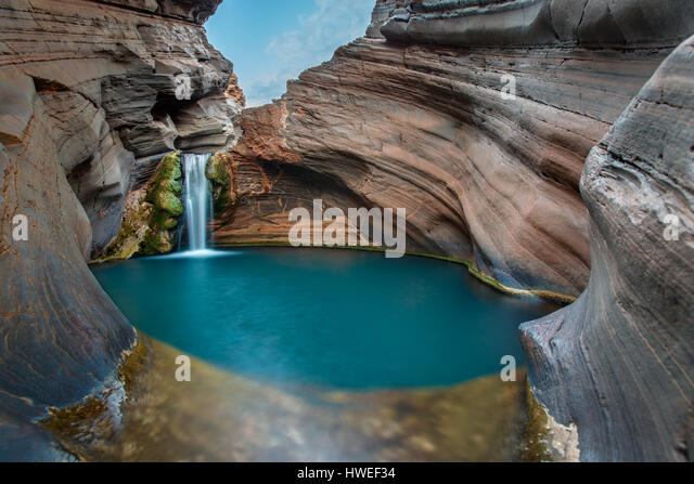 Spa Pool - Karijini National Park, Western Australia - Stock-Bilder