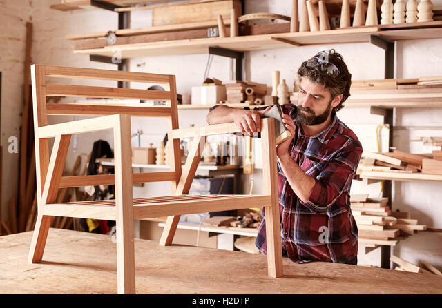 Sanding Furniture Stock Photos Sanding Furniture Stock Images Alamy