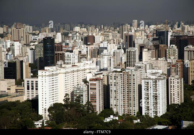 Buildings of the area of Avenida Brigadeiro Faria Lima - Stock Image