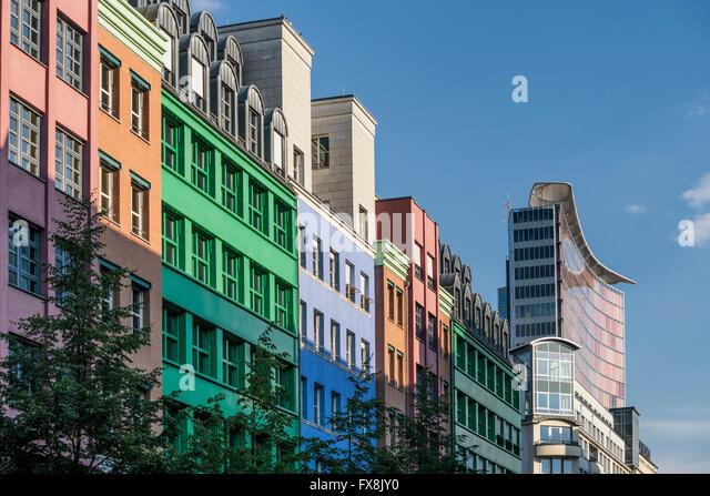 Quartier Schützenstrasse, postmodernist building by Aldo Rossi, corner of Charlottenstrasse and Zimmerstrasse, - Stock Image