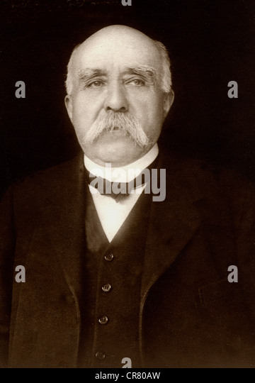 Georges Clemenceau, French politician, 1841 - 1929, historical portrait, 1920 - Stock Image