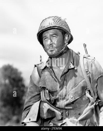 OBJECTIVE, BURMA ! 1945 Warner Bros film with Errol Flynn as Captain Nelson - Stock-Bilder