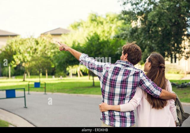 Couple enjoying walk together - Stock Image