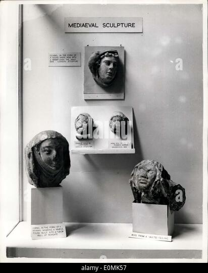 Oct. 04, 1955 - Archaeology Exhibition At Royal Exchange: An exhibition organised by the London and Middlesex Archaeological - Stock Image