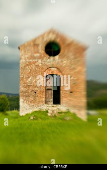 Ruin at San Gimignano. Tuscany Italy. - Stock-Bilder