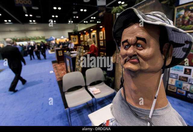 Orlando, Florida, USA. 23rd Jan, 2014. A sculpted caricature of Bill Murray by David O'Keefe is displayed during - Stock Image