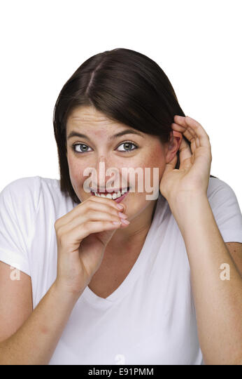 bashful smile - Stock Image
