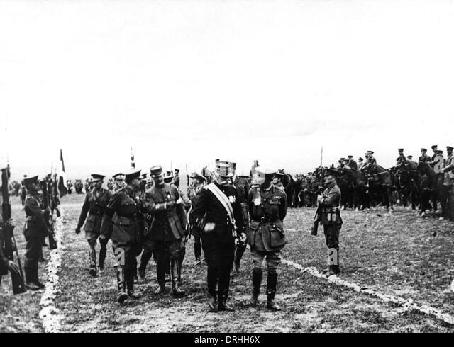 General Sarrail and General Mahon - Macedonia - Stock Image