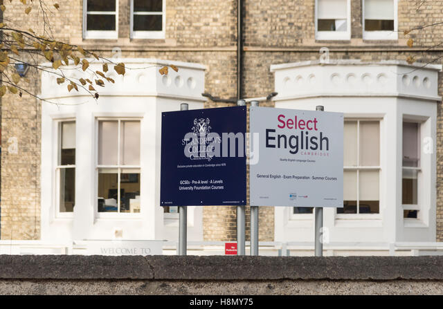 A large victorian building in Cambridge UK used as the Select English language school and offices of St Andrew's - Stock Image