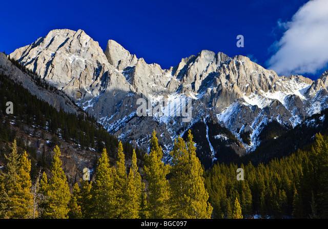Mount Blane (2993 metres/9819 feet) part of the Opal Range, Peter Lougheed Provincial Park, Kananaskis Country, - Stock Image
