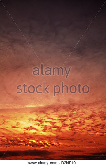 warm sky background - Stock Image