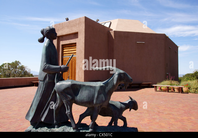 wheelwright museum of the american native indian santa fe new mexico nm sculpture maiden goats klah record - Stock Image