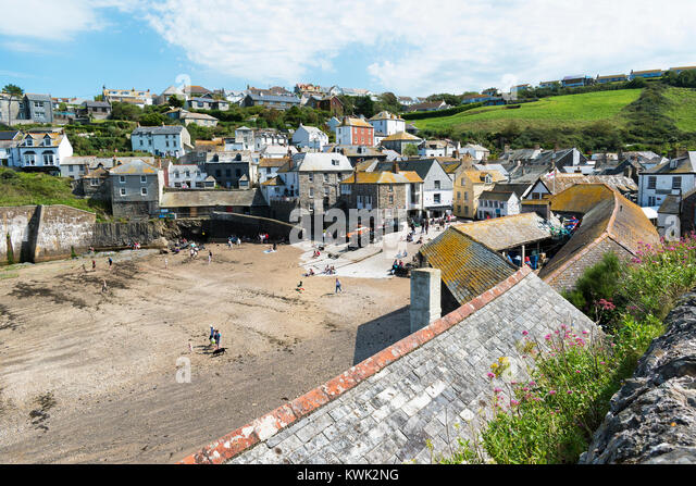 port isaac in north cornwall, england, uk, made famous by the filming of hit tv series doc martin. - Stock Image