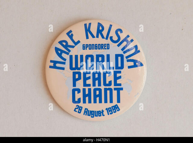 Hare Krishna sponsored World Peace Chant 28 August 1989 London Uk HOMER SYKES - Stock Image